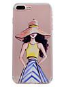 아이폰 7 플러스 7 케이스 커버 울트라 얇은 투명 패턴 뒷면 커버 케이스 패션 여자 소프트 tpu 6 플러스 6 플러스 6 SE 5S 5