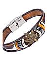 Homme Bracelets en cuir Bijoux Naturel bijoux de fantaisie Mode Cuir Alliage Bijoux Pour Occasion speciale Sports