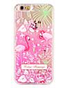 Case  for Apple iPhone 7 7 Plus Flamingo Flower Glitter Shine Pattern Flowing Liquid Hard  PC  6s Plus 6 plus 6s 6