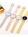 여성용 패션 시계 손목 시계 캐쥬얼 시계 중국어 석영 스테인레스 스틸 밴드 캐쥬얼 멋진 미니멀리스트 블랙 실버