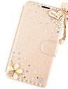Para iPhone X iPhone 8 iPhone 6 iPhone 6 Plus Case Tampa Com Strass Com Suporte Flip Corpo Inteiro Capinha Glitter Brilhante Rigida Couro