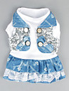 Dog Dress Dog Clothes Cowboy Casual/Daily Lace White