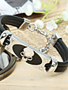 Men\'s ID Bracelets Gothic Fashion Vintage Punk Hip-Hop Rock Stainless Steel Titanium Steel PU Geometric Skull Jewelry