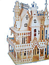 3D Puzzles Jigsaw Puzzle Model Building Kits Wood Model Rectangular Castle Famous buildings Architecture 3D Wood Natural Wood All Ages