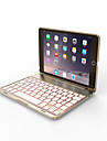 Bluetooth 3.0 Keyboard Case For iPad mini 4 Seven Colorful Backlit Aluminum for iPad mini123 mini4 Gold/Rose gold/Sliver