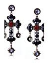 Mulheres Luxo / Borla / Boemio Cruz / Outros / Caido Gema Brincos Compridos / Brincos dangle - Personalizada / Bijuteria Religiosa / Luxo