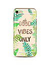 Case For Apple iPhone X iPhone 8 Plus Transparent Pattern Back Cover Word / Phrase Tree Soft TPU for iPhone X iPhone 8 Plus iPhone 8