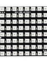 Квадрат 8 * 8 64-значный ws2812 5050 светодиодная панель разработки - черный