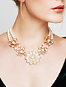 Women\'s Power Necklace Statement Necklaces Pearl Flower Pearl Statement Jewelry Costume Jewelry Vintage Fashion Jewelry For Wedding Party