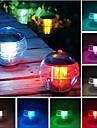 방수 무지개 풀 태양 뜨 LED 가벼운 램프 공 7 개의 색깔 변화