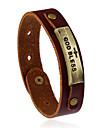 Femme Homme Bracelets en cuir Mode Cuir Forme Geometrique Bijoux Pour Mariage Soiree Sports