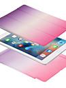 애플 ipad 프로 10.5 ipad (2017) 케이스 커버 자기 전신 케이스 솔리드 컬러 그라디언트 하드 pu 가죽 애플 ipad 공기 2 ipad 공기