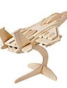 Muwanzi 3D퍼즐 직쏘 퍼즐 나무 모델 비행기 파이터 유명한 빌딩 건축 3D DIY 나무 클래식 남여 공용 선물