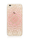Coque Pour Apple iPhone X iPhone 8 Plus Transparente Motif Coque Arriere Mandala Impression de dentelle Flexible TPU pour iPhone X iPhone