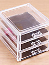 Acrylic Transparent Complex Combined Large Capacity Random Handle 3 Layer Makeup Cosmetics Storage Drawer Cosmetic Organizer Jewelry Display Box