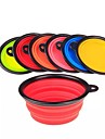 L Cat Dog Bowls & Water Bottles Pet Bowls & Feeding Portable Foldable Orange Purple Red Green Blue