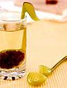 Music Note Fashion Convenience Tea Strainer Spoon Teaspoon Infuser Filter(Random Color)