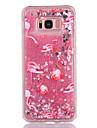Caso para samsung galaxy s8 s8 plus capa tampa flamingo padrao tpu material cheio suave amor flash em po caixa de telefone de areia rapida