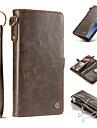 Кейс для Назначение SSamsung Galaxy S8 Plus S8 Кошелек Бумажник для карт Магнитный Чехол Сплошной цвет Твердый Натуральная кожа для S8 S8