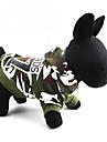 Кошка Собака Толстовки Одежда для собак Хлопок Весна/осень камуфляж Зеленый Костюм Для домашних животных