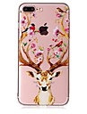 Case For Apple iPhone 7 7 Plus Case Cover Deer Head Pattern Feel Varnish Relief High Penetration TPU Material Phone Case For iPhone 6S 6 Plus