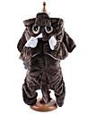 Собака Костюмы Толстовки Комбинезоны Одежда для собак Очаровательный Косплей Животные Кофейный Темно-русый Костюм Для домашних животных