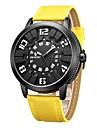 Men\'s Sport Watch Fashion Watch Japanese Quartz Calendar Genuine Leather Band Black Blue Red Orange Yellow