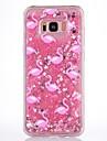 Кейс для samsung галактика s8 plus s8 кейс покрытие фламинго рисунок текущая жидкость блеск soft tpu materia phone кейс s7 край s7