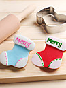 Christmas Socks Cookies Cutter Stainless Steel Biscuit Cake Mold Fondant Baking Tools