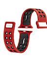 iwatch 사과 시계 스트랩 시리즈 2 1 실리콘 스포츠 피트니스 밴드 교체 38mm 42mm