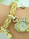 Women\'s Fashion Watch Bracelet Watch Quartz Rhinestone Alloy Band Heart shape Silver Gold