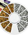 1pcs Nouveaux Bijoux Decoration artistique / Retro Bijoux a ongles Produits DIY 3D Glitters Artistique Luxe Geometrique Orne Accessoires