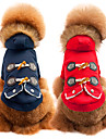 Dog Coat Dog Clothes Breathable Casual/Daily Fashion Solid Red Blue Costume For Pets