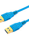USB 3.0 Cable, USB 3.0 to USB 3.0 Cable Male - Male 1.8m (6Ft)