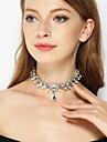 Pentru femei Coliere Choker - Ștras Lacrimă Personalizat, Modă, Euramerican Auriu, Argintiu Coliere Bijuterii Pentru Petrecere, Ocazie specială, Zilnic