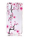 Назначение iPhone X iPhone 8 iPhone 8 Plus Чехлы панели Ультратонкий Прозрачный С узором Задняя крышка Кейс для дерево Цветы Мягкий