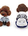 Собака Комбинезоны Одежда для собак Хлопок Пух Зима Весна/осень На каждый день Мультфильмы Для домашних животных