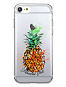 Para iPhone 7 iPhone 7 Plus Case Tampa Transparente Estampada Capa Traseira Capinha Fruta Macia PUT para Apple iPhone 7 Plus iPhone 7