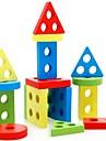 Brinquedo Educativo Quebra-Cabecas de Madeira Forma Cilindrica Triangulo Retangular Unisexo