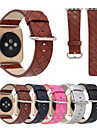 For Apple Watch 3 iWatch Plaid Print Stitched Watch Band Strap