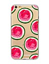 Capinha Para Apple iPhone X iPhone 8 Estampada Capa traseira Fruta Macia TPU para iPhone X iPhone 8 Plus iPhone 8 iPhone 7 Plus iPhone 7