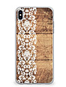 For iPhone X iPhone 8 Case Cover Ultra-thin Pattern Back Cover Case Wood Grain Lace Printing Soft TPU for Apple iPhone X iPhone 8 Plus