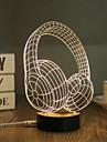 1 Set, Popular Home Acrylic 3D Night Light LED Table Lamp USB Mood Lamp Gifts, Headphones