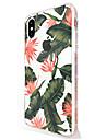 Para iPhone X iPhone 8 iPhone 8 Plus Case Tampa Ultra-Fina Transparente Estampada Capa Traseira Capinha Flor Macia PUT para Apple iPhone