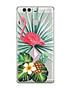 Case For Huawei P9 P10 Transparent Pattern Back Cover Transparent Flamingo Tree Soft TPU for Huawei P10 Plus Huawei P10 Lite Huawei P10