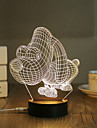 1 Set, Popular Home Acrylic 3D Night Light LED Table Lamp USB Mood Lamp Gifts, Puppy