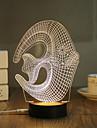 1 Set, Popular Home Acrylic 3D Night Light LED Table Lamp USB Mood Lamp Gifts, Fish