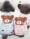 Собака Комбинезоны Одежда для собак Ткань Хлопок Зима Весна/осень На каждый день Сохраняет тепло Мультфильмы Синий Розовый Для домашних