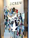 Животные Мультипликация Праздник Наклейки Простые наклейки Декоративные наклейки на стены,Винил материал Украшение дома Наклейка на стену