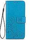 케이스 커버 용 카드 지갑 지갑 스탠드 플립 양각 된 전신 케이스 솔리드 컬러 꽃 하드 우레탄 모토로라 모토 g5 플러스 가죽